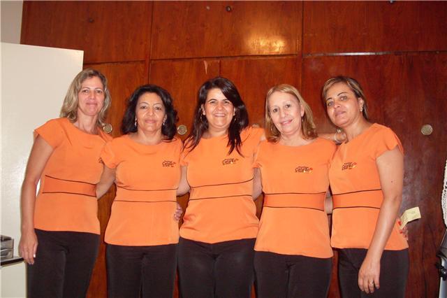 Maria Abadia dos Santos Martins, Maria Aparecida Costa, Sônia de Fátima Teles,  Rubenita Barbosa Pereira, Sônia Eli de Fátima Santos